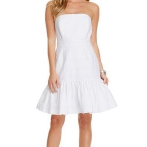 VINEYARD VINES Strapless White Dress
